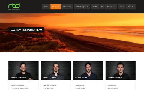 Screenshot of Team Page new-time.ch - Team von new time design - Ihre IT- Web- und Medien-Agentur - captured Oct. 19, 2018