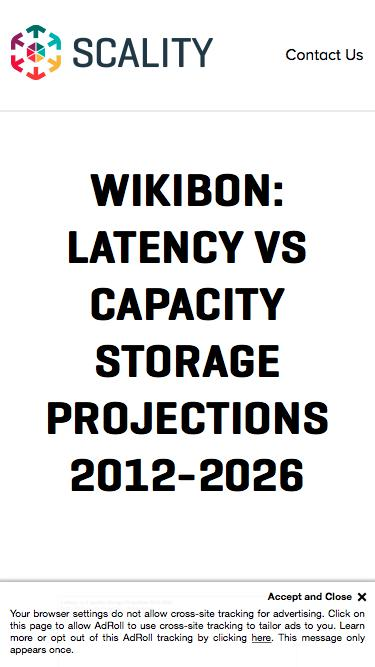 White Paper - Wikibon: Latency vs Capacity Storage Projections 2012-2026