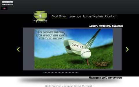 Screenshot of Home Page start-driver.com - L'univers Golfique START DRIVER du 21 ème siecle - captured Sept. 30, 2014