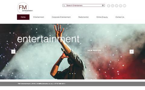 Screenshot of Home Page fluidmedia.co.za - FM Media & Entertainment   SA's Leading Entertainment Company - captured Oct. 10, 2018