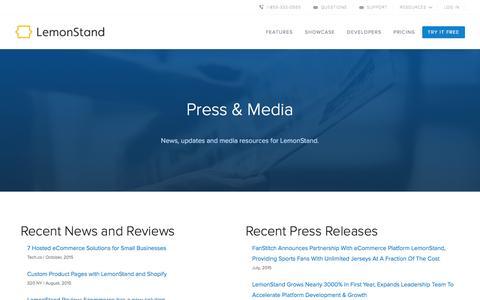 Screenshot of Press Page lemonstand.com - LemonStand Press And Media | LemonStand - captured Dec. 24, 2015