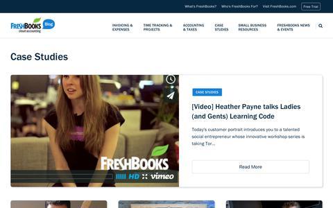 Screenshot of Case Studies Page freshbooks.com - Case Studies - Page 7 of 9 - FreshBooks Blog - captured Dec. 5, 2017
