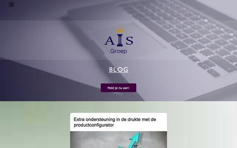 Screenshot of Blog ais-groep.nl - AIS-Blog - captured July 28, 2018