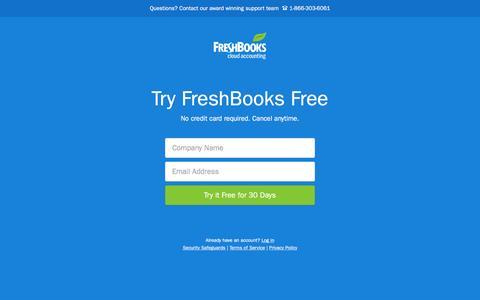 Screenshot of Signup Page freshbooks.com - Signup | FreshBooks - captured Dec. 17, 2015