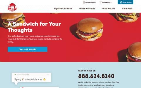Screenshot of Contact Page wendys.com - Contact Us | Wendy's - captured May 11, 2018