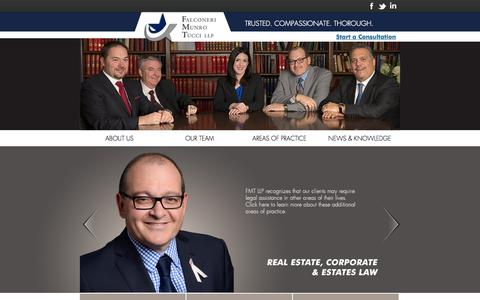 Screenshot of Home Page fmtlaw.ca - Personal Injury Law Firm Toronto, GTA / FMTLaw.ca - captured Oct. 5, 2014