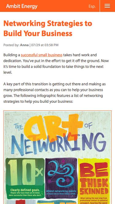 Networking Strategies to Build Your Business | Ambit Energy