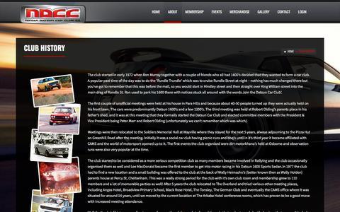 Screenshot of About Page nissandatsuncarclubsa.com - Club History - Nissan Datsun Car Club SA - captured July 1, 2018