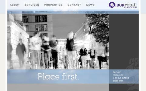 Screenshot of Home Page jbgr.com - JBGR Retail - captured Oct. 3, 2014