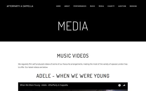 Screenshot of Press Page after-party.org.uk - Media — AfterParty A Cappella - captured Oct. 7, 2017