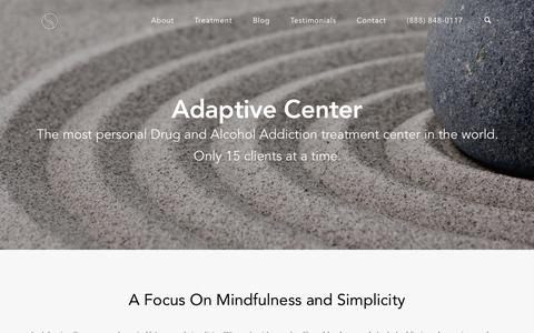 Screenshot of Home Page adaptivecenter.net - Truly Different Drug & Alcohol Addiction Treatment in Miami Florida - captured Sept. 30, 2014