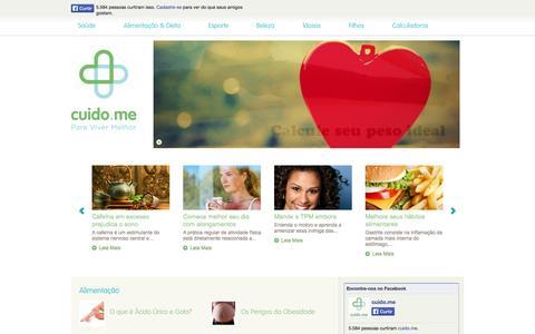 Screenshot of Home Page cuido.me - cuido.me - Para Viver Melhor! - captured Jan. 27, 2015