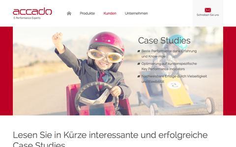 Screenshot of Case Studies Page accado.de - CASE STUDIES » ACCADO - VIVAKI - Accado - captured Nov. 2, 2014