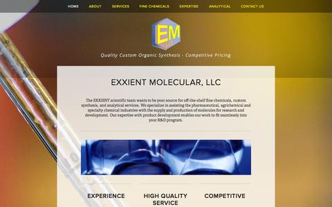 Screenshot of Home Page exxient.com - EXXIENT Molecular, LLC - captured Oct. 3, 2014