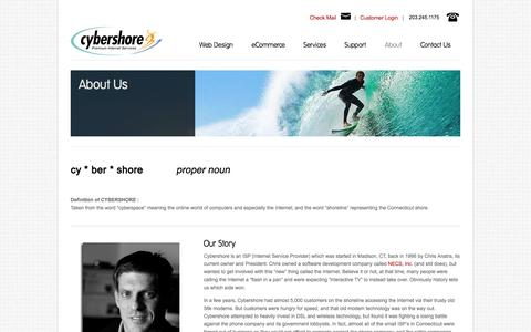 Screenshot of About Page cshore.com - About Cybershore - CT Web Design Firm   Cybershore Internet Services - captured Oct. 2, 2014