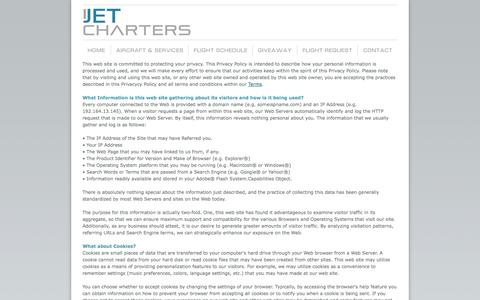 Screenshot of Privacy Page ijetcharters.com - iJet Charters  - Full-Service Travel Agency - Caribbean Travel, Group Travel, Destination Weddings, Private Jets - captured Sept. 30, 2014