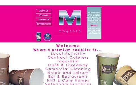 Screenshot of Home Page magentauk.co.uk - Magenta - captured Sept. 30, 2014