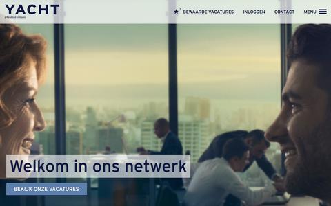 Screenshot of Home Page yacht.nl - Werken via Yacht - YACHT - captured Feb. 12, 2016