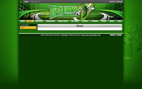 Screenshot of Press Page edinasoccer.org - News - captured Oct. 2, 2014