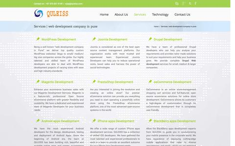 Screenshot of Services Page quleiss.com - web development company in Pune | Web development pune - captured Nov. 2, 2014
