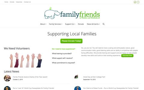 Screenshot of Home Page family-friends.org.uk - Family Friends | Family Friends - captured Oct. 10, 2018