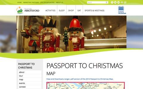 Screenshot of Maps & Directions Page tourismabbotsford.ca - Passport to Christmas - Tourism Abbotsford - captured Nov. 5, 2014