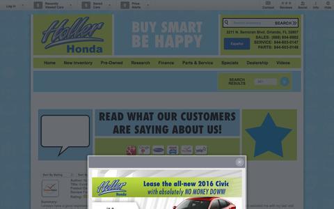 Screenshot of Testimonials Page hollerhonda.com - Holler Honda | New Honda dealership in Orlando, FL 32807 - captured Jan. 31, 2016