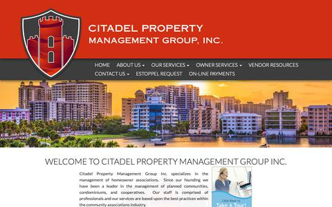 Screenshot of About Page citadelpmg.com - Citadel Property Management - Homeowners associations management - captured Sept. 28, 2018