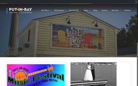 Screenshot of Press Page visitputinbay.com - News – Put-in-Bay Chamber of Commerce & Visitors Bureau - captured Nov. 19, 2017