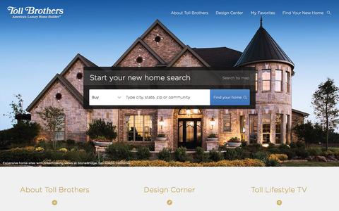 Screenshot of Home Page tollbrothers.com - Toll Brothers - America's Luxury Homebuilder - captured Oct. 8, 2015