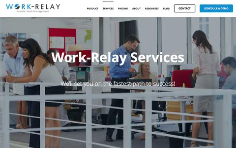 Screenshot of Services Page work-relay.com - Services - Work-Relay - captured Oct. 1, 2016
