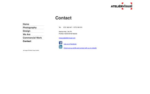 Screenshot of Contact Page ateliervisual.com - Atelier Visual - Contact - captured Oct. 4, 2014