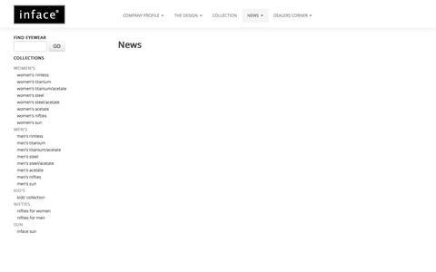 Screenshot of Press Page inface.com - News - Inface - captured Oct. 6, 2014