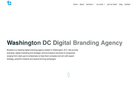 Washington DC Digital Branding Agency | Bluetext
