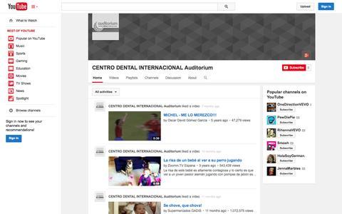 Screenshot of YouTube Page youtube.com - CENTRO DENTAL INTERNACIONAL Auditorium  - YouTube - captured Oct. 22, 2014