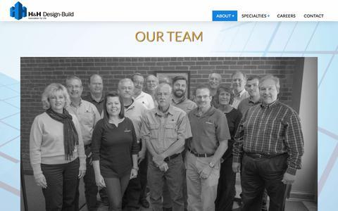 Screenshot of Team Page hhsd.com - Our Team | H&H Design-Build - captured Sept. 25, 2018