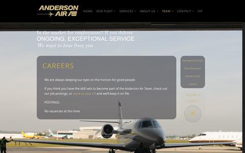 Screenshot of Jobs Page andersonair.ca - Careers | Anderson Air - captured Oct. 4, 2014