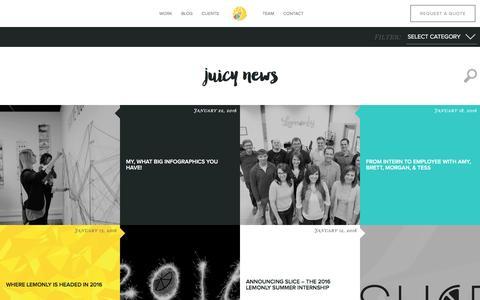 Screenshot of Blog lemonly.com - Infographic Design Blog from Lemonly - captured Jan. 27, 2016