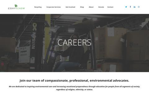 Screenshot of Jobs Page comprenew.org - Careers - Comprenew - captured Nov. 5, 2018