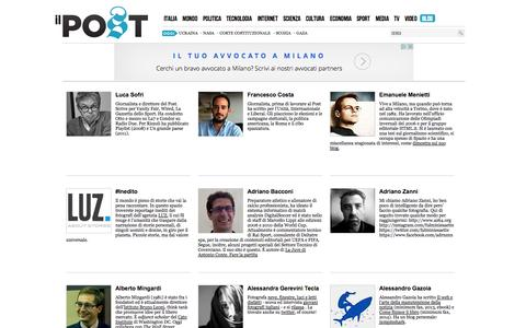 Screenshot of Blog ilpost.it - I blog del Post - Il Post - captured Sept. 18, 2014