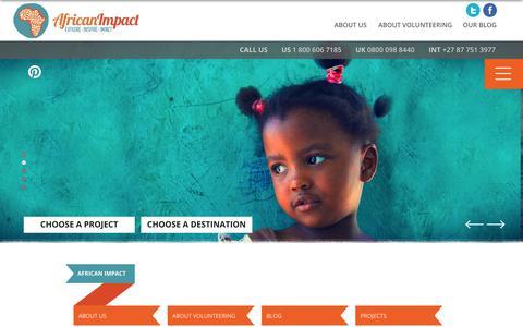 Screenshot of Site Map Page africanimpact.com - Sitemap - captured Oct. 29, 2014