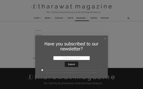 Screenshot of Login Page tharawat-magazine.com - Login - Tharawat Magazine - captured Nov. 2, 2018
