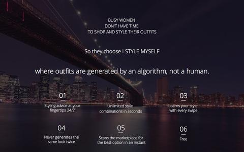 Screenshot of Home Page istylemyself.com - I STYLE MYSELF - captured May 25, 2017