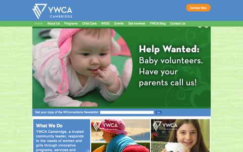 Screenshot of Home Page Privacy Page ywcacambridge.ca - YWCA Cambridge: Home - captured Sept. 30, 2014