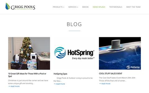 News Splash - Grigg Pools and Outdoor Living