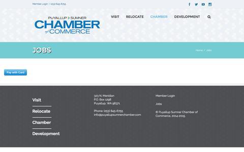 Screenshot of Jobs Page puyallupsumnerchamber.com - Puyallup Sumner Chamber of Commerce   –  Jobs - captured Nov. 15, 2016