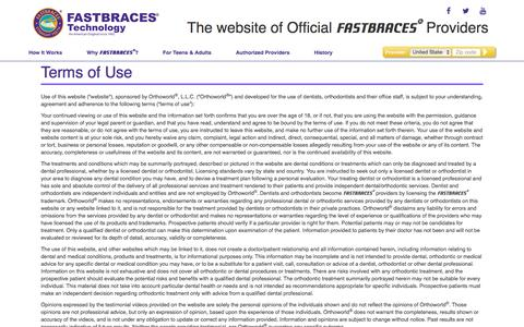 Fastbraces® Terms of Use