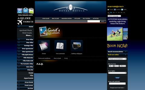 Screenshot of FAQ Page orvas-hotels.com - FAQ Croatia - captured Nov. 1, 2014