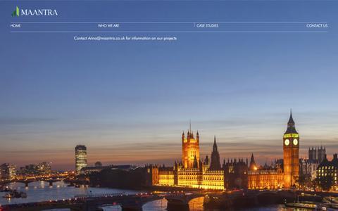 Screenshot of Case Studies Page maantra.co.uk - Case studies | Maantra - captured Oct. 4, 2017