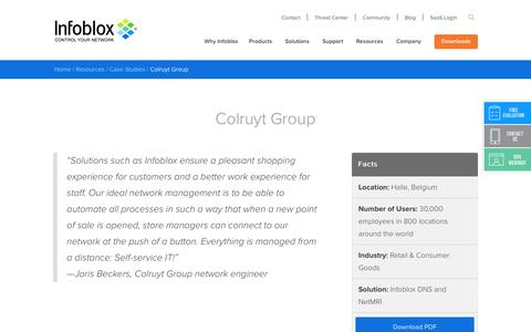 Screenshot of Case Studies Page infoblox.com - Colruyt Group - Infoblox - captured Sept. 25, 2017